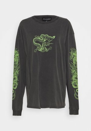 TRIPLE DRAGON - Long sleeved top - black