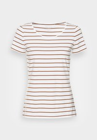 Esprit - 1/2 SLEEVE STRIPES - Print T-shirt - toffee - 3