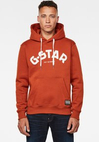 G-Star - VARSITY FELT HOODED LONG SLEEVE - Hoodie - cinnamon orange - 0