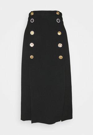 BURRASCA SKIRT - Áčková sukně - black