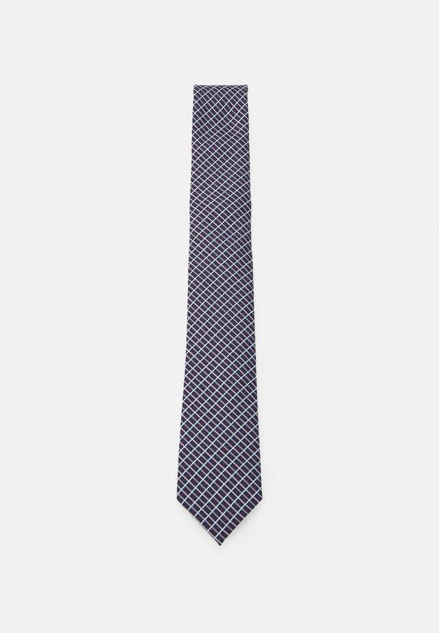 Cravatta - dark blue/bordeaux