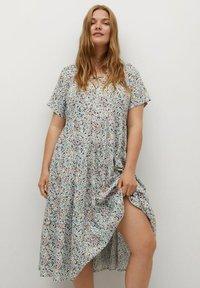 Violeta by Mango - FLIESSENDES - Day dress - himmelblau - 2