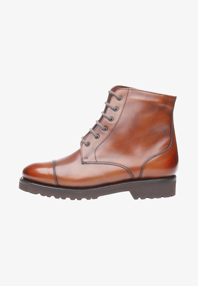 NO. 261 - Lace-up ankle boots - whiskey
