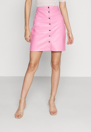 VIPEN BUTTON COATED SKIRT - Mini skirt - wild rose