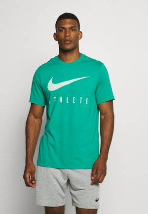 DRY TEE ATHLETE - T-shirt z nadrukiem - neptune green