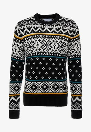 FAIRISLE - Trui - black