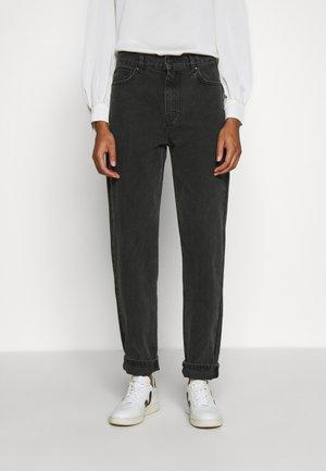 AIDEN - Široké džíny - black