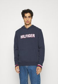 Tommy Hilfiger - OH HOODIE  - Pyjamasöverdel - blue - 0