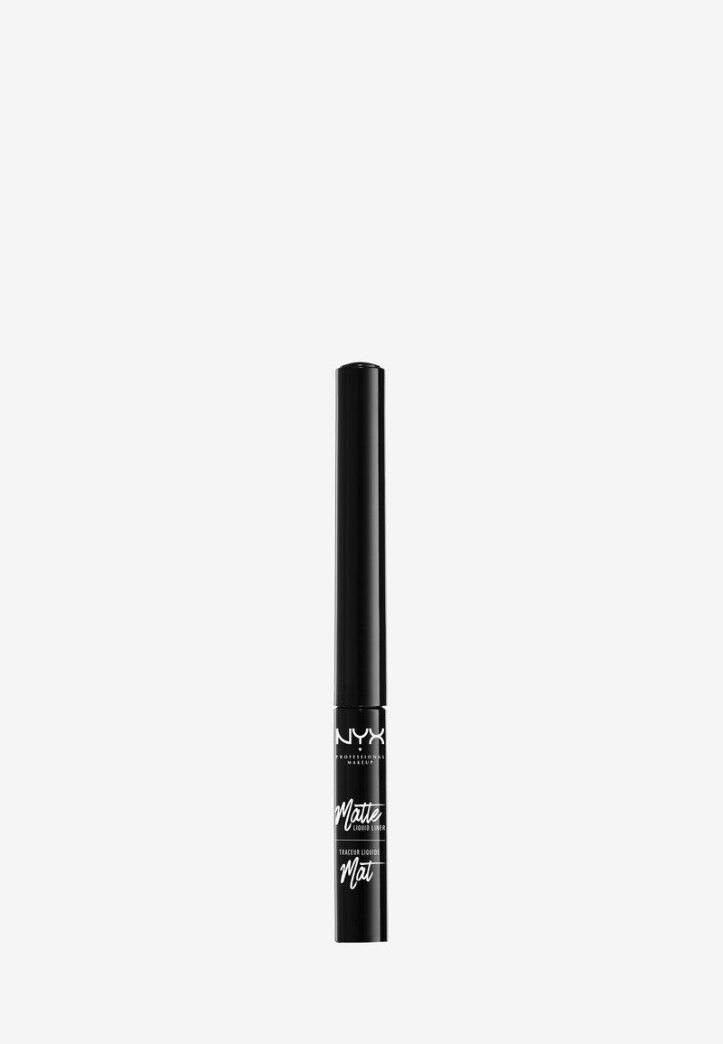 Nyx Professional Makeup - EYELINER MATTE LIQUID LINER - Eyeliner - 1 black