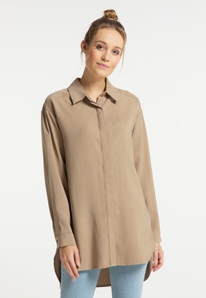 Button-down blouse - sand