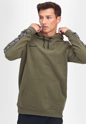 LOGO - Bluza z kapturem - iguana melange prt0
