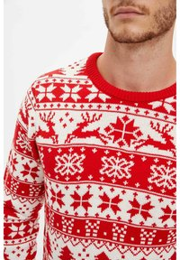 DeFacto - CHRISTMAS - Jumper - red - 3