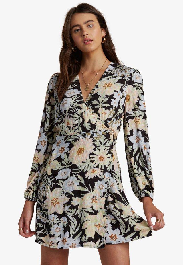 Korte jurk - black multi