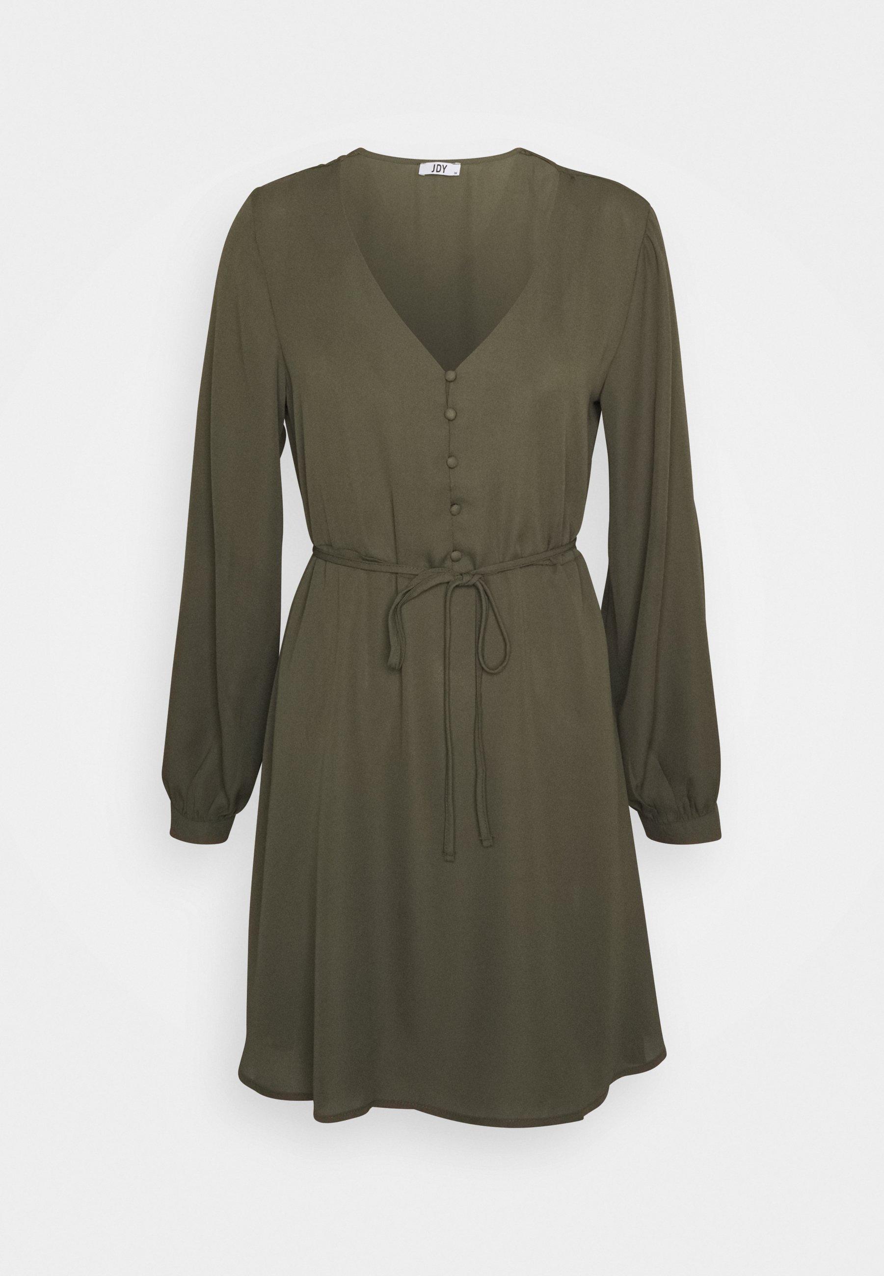 Damen JDYHERMINE SHORT BUTTON DRESS  - Freizeitkleid