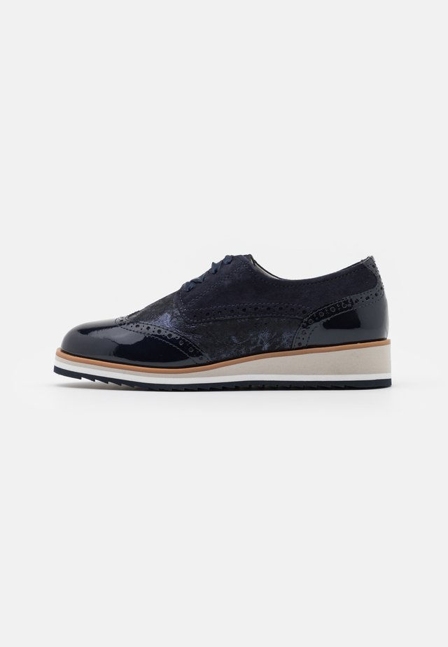 LACE UP - Derbies - ocean