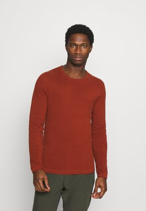 Stickad tröja - dark orange