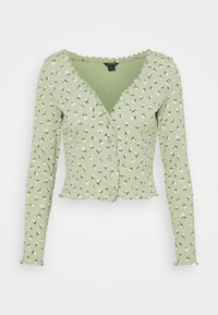 Monki - SANCY - Strikjakke /Cardigans - light green - 4