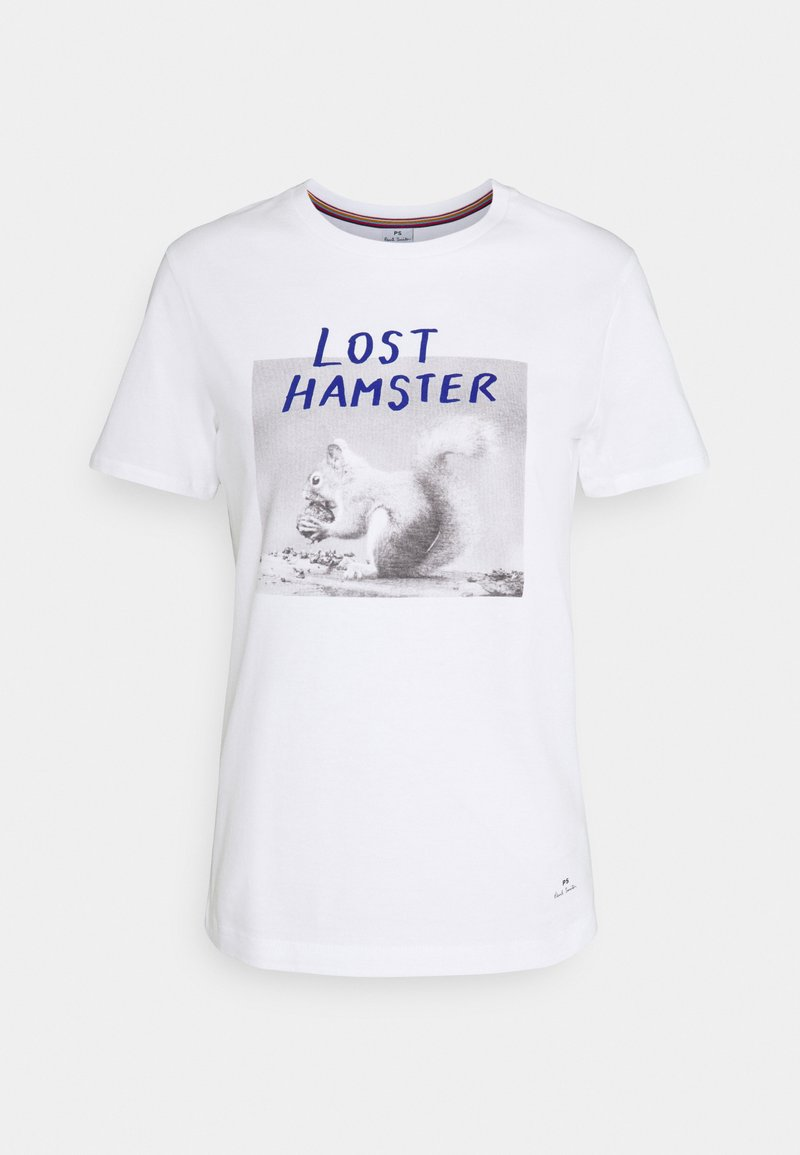 PS Paul Smith - WOMENS HAMSTER - Print T-shirt - white