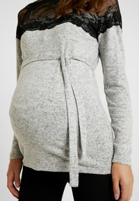 MAMALICIOUS - Jumper - light grey melange/black - 5