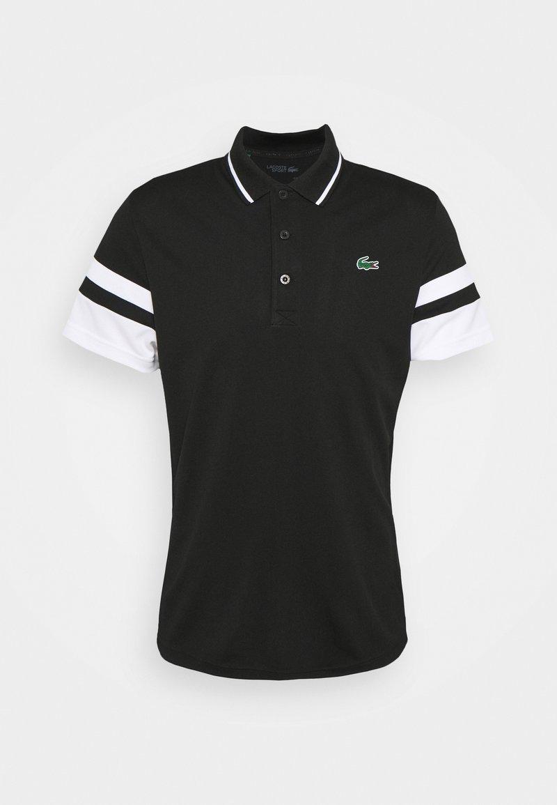 Lacoste Sport - TENNIS - Sports shirt - black/white