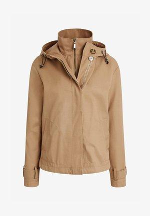 Waterproof jacket - camel