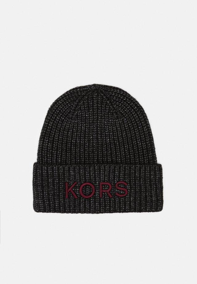 EMBROIDERD HAT UNISEX - Bonnet - black