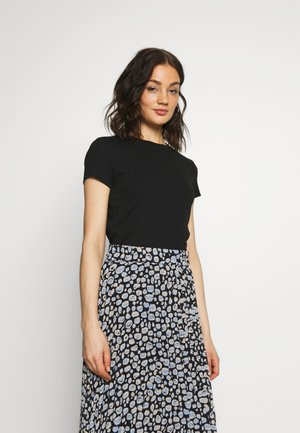 MAGDALENA TEE - T-shirt basique - black dark solid
