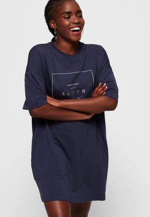 BOYFRIEND - Jersey dress - navy blue