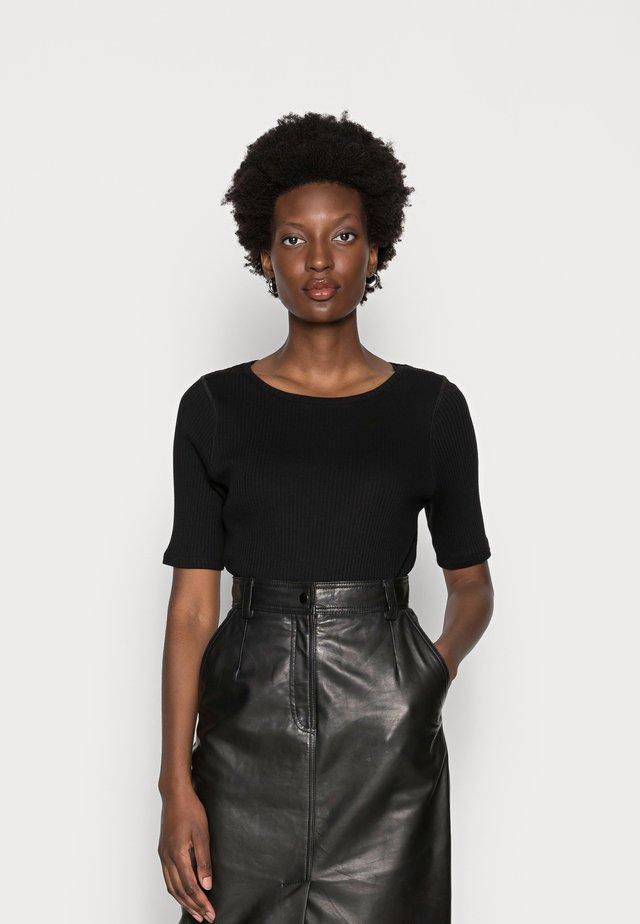ISA O NECK - T-shirt basic - black