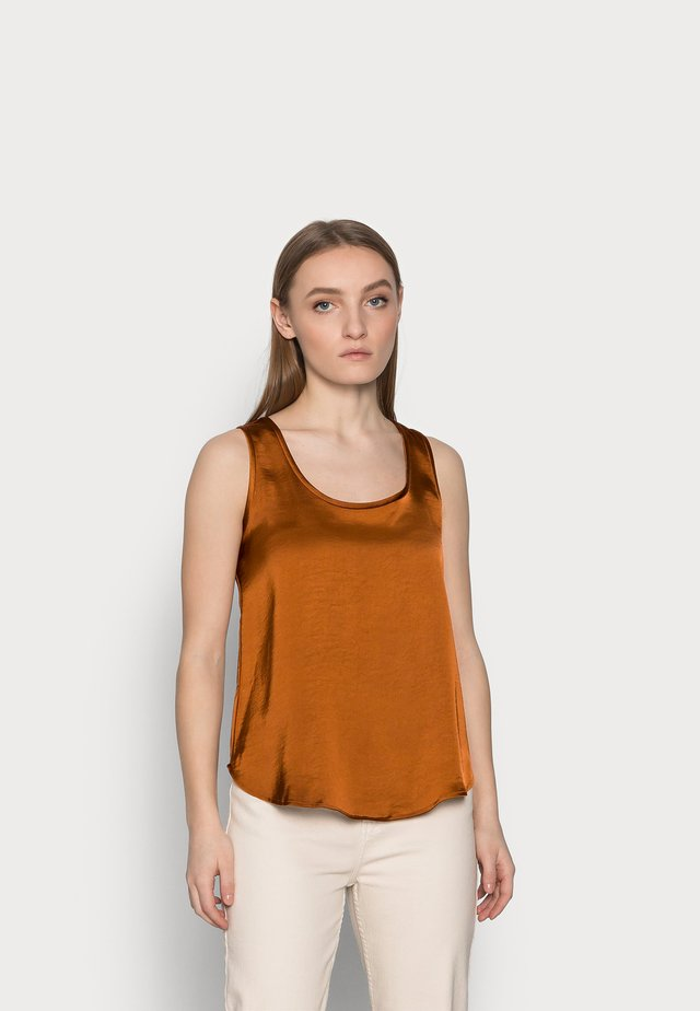SCOOP NECK SHINE TANK - Blouse - the right spice