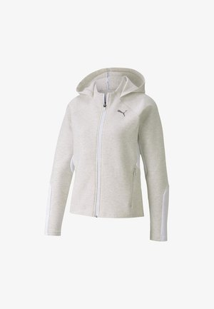 Zip-up hoodie - puma white heather