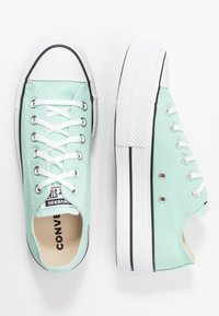 Converse - CHUCK TAYLOR ALL STAR LIFT SEASONAL - Joggesko - ocean mint/white/black - 3