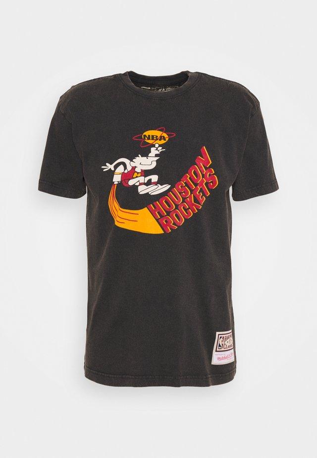 NBA HOUSTON ROCKETS WORN WORDMARK TEE - Pelipaita - black