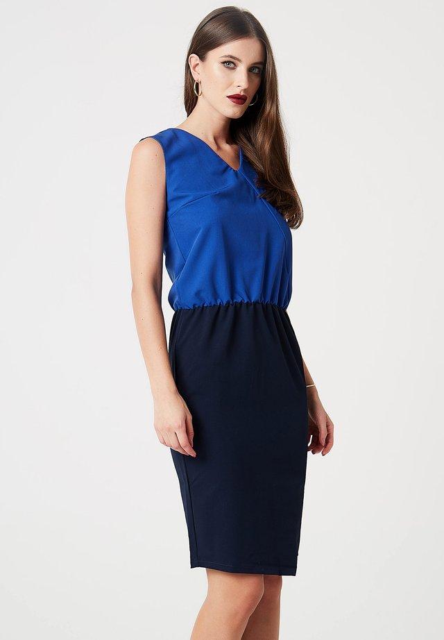 Sukienka etui - kobaltblau/dunkelblau