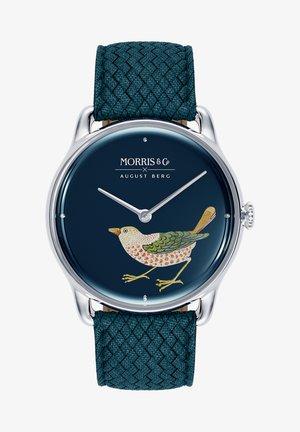 UHR MORRIS & CO SILVER BIRD INDIGO PERLON 38MM - Watch - indigo