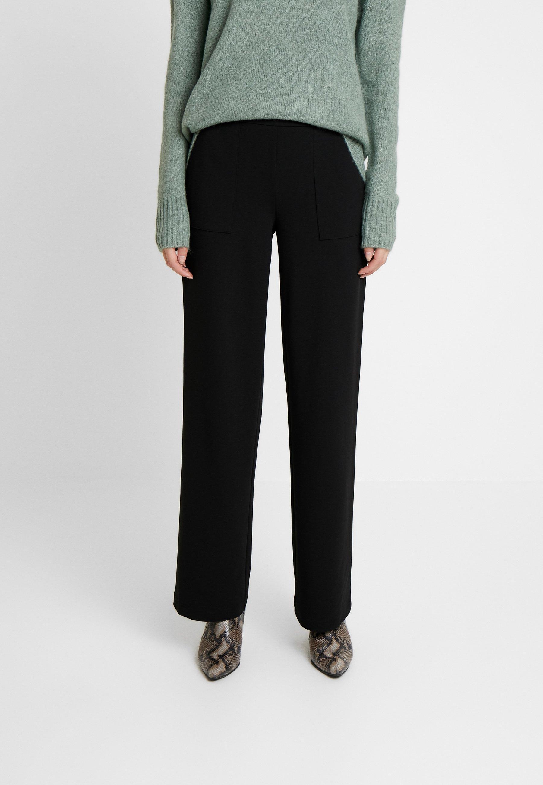 ONLMARTA ROCKY WIDE PANTS Bukse black