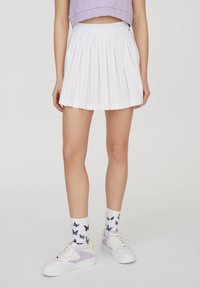 PULL&BEAR - Spódnica trapezowa - white - 10