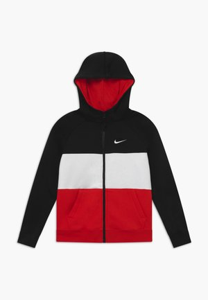 AIR - Zip-up hoodie - black/university red/white