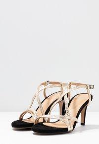 PERLATO - High heeled sandals - or/noir - 4
