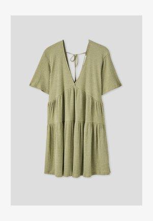 Pletené šaty - khaki