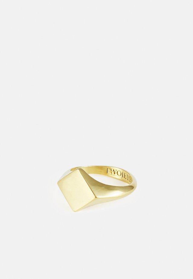 DIAMOND RING UNISEX - Ring - gold-coloured
