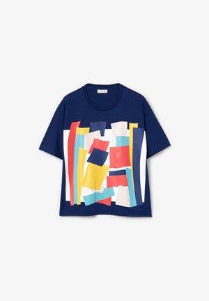 TEE - T-shirt imprimé - bleu marine