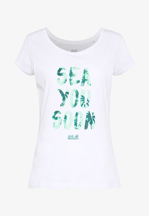 SEA YOU SOON  - T-shirt con stampa - white rush