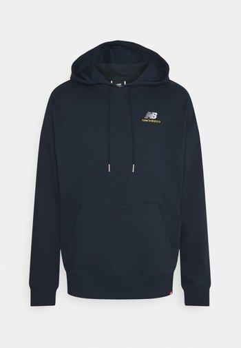 ESSENTIALS EMBROIDERED HOODIE - Sweatshirt - dark blue