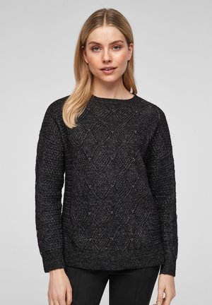 TRUI - Jumper - black knit