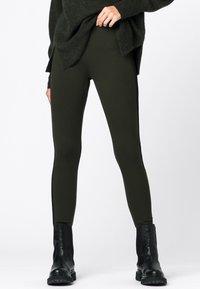 HALLHUBER - Leggings - Trousers - olijfgroen - 0