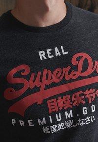Superdry - Print T-shirt - black snow heather - 3