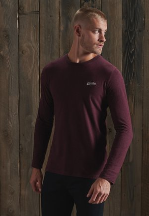 VINTAGE EMB LS  - Long sleeved top - deep burgundy grit
