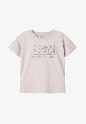 Print T-shirt - violet ice