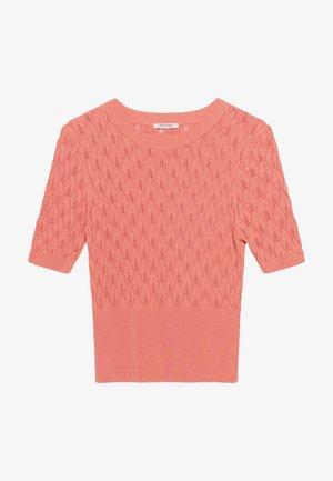Print T-shirt - lachsfarben